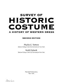 A Survey Of Historic Costume