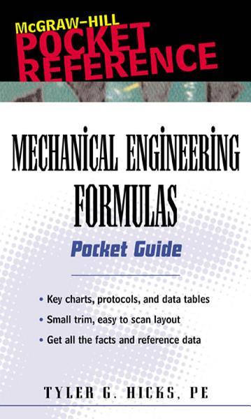 Mechanical Engineering Formulas Pocket Guide