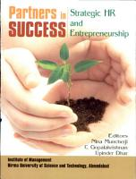 Partners In Success  Strategic Hr And Entrepreneurship PDF