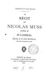 Le récit de Nicolas Muss