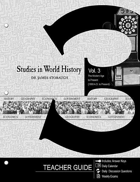 Download Studies in World History Volume 3  Teacher Guide  Book