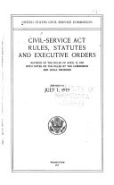 Civil Service Act and Rules, Statutes, Executive Orders