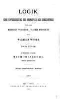 Namenverzeichniss und sachregister zu Wundt s Logik PDF