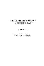 The Secret Agent: Drama in Four Acts
