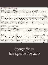 Songs from the operas for alto