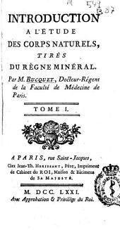 Introduction a l'étude des corps naturels, tirés du règne minéral