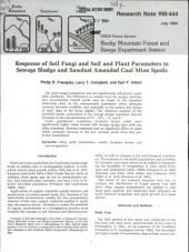 Response of Soil Fungi and Soil and Plant Parameters to Sewage Sludge and Sawdust Amended Coal Mine Spoils