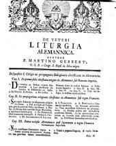 De veteri liturgia Alemannica