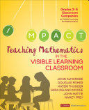 Teaching Mathematics in the Visible Learning Classroom  Grades 3 5 PDF