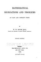 Mathematical Recreations and Problems of Past and Present Times PDF