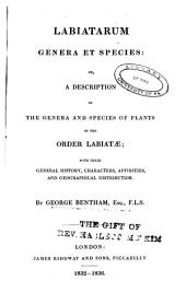 Labiatarum genera et species