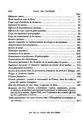 État général de la Marine et des colonies au ler janvier 1840