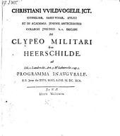 De clypeo militari sive Heerschilde