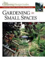 Gardening in Small Spaces PDF