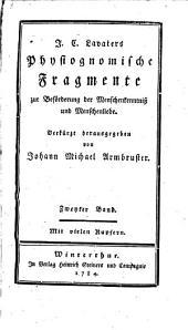 J. C. Lavaters physiognomische Fragmente zur Beförderung von Menschenkenntniss und Menschenliebe: Band 2
