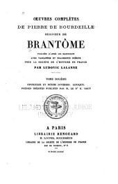 Oeuvres completes de Pierre de Bourdeille: Volume10