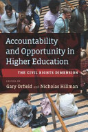 Accountability and Opportunity in Higher Education PDF