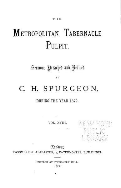 Download The Metropolitan Tabernacle Pulpit Book