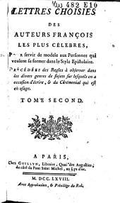 Lettres choisies des auteurs françois les plus célèbres ...