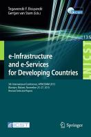e Infrastructure and e Services for Developing Countries PDF