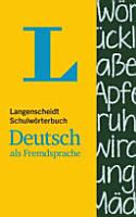 Langenscheidt Schulw  rterbuch Deutsch als Fremdsprache PDF