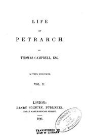 Life of Petrarch: Volume 2