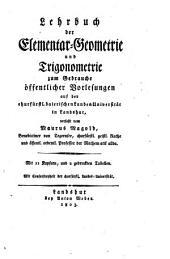 Mathematisches lehrbuch zum gebrauche öffentlicher vorlesungen auf der Königl. baierischen landes-universität zu Landshut: Band 2