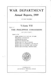Annual Report of the Secretary of War: Volume 7