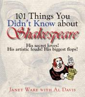 101 Things You Didn t Know About Shakespeare PDF