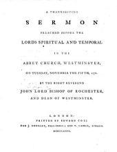 A Thanksgiving Sermon
