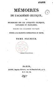 Mémoires pour l'Académie celtique