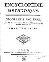 Encyclopédie méthodique: géographie ancienne, Volume3