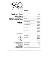 1980 census of housing: Metropolitan housing characteristics. York, Pa