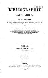 Etudes religieuses, philosophiques, historiques et littéraires: partie bibliographique