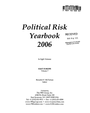 Political Risk Yearbook PDF