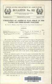 Utilization of American flax straw in the paper and fiber-board industry