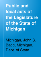 Public and Local Acts of the Legislature of the State of Michigan PDF