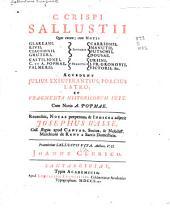 C. Crispi Sallustii quae extant;: cum notis integris Glareani, Rivii, Ciacconii, Gruteri, Carrionis, Manutii, Putschii, Dousae