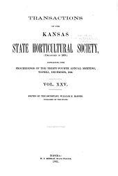 Transactions of the Kansas State Horticultural Society: Volume 25