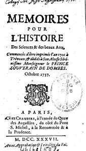 Mémoires pour l'histoire des sciences et des beaux arts: 1737,4, Volume 1737, Issue 4