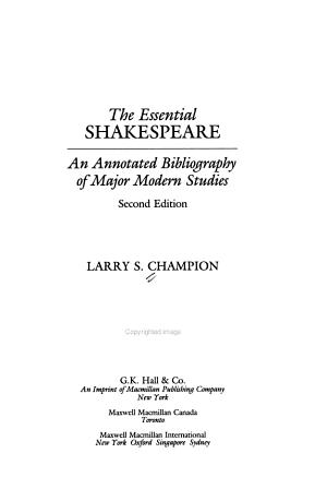 The Essential Shakespeare PDF