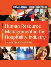 Human Resource Management in the Hospitality Industry PDF