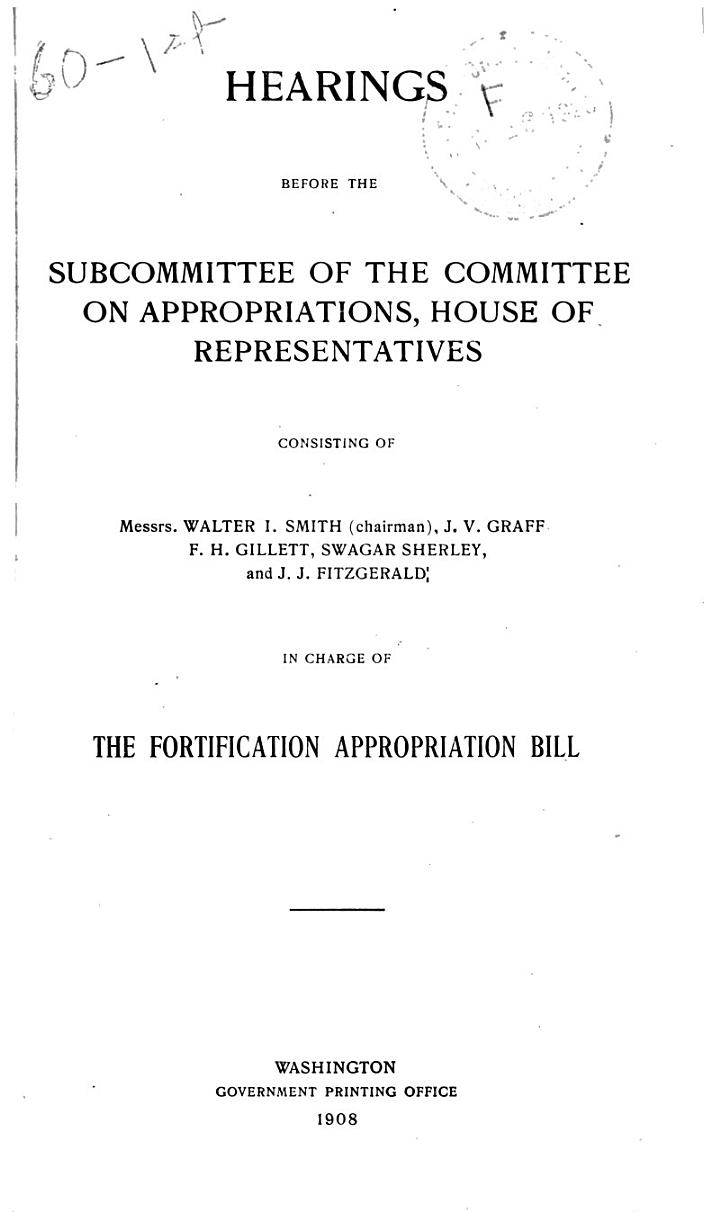 Fortification Appropriation Bill