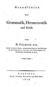 Grundlinien der Grammatik, Hermeneutik und Kritik