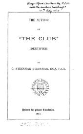 "The Author of ""The Club"" Identified"