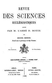 Revue des sciences ecclésiastiques