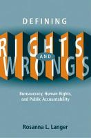 Defining Rights and Wrongs PDF