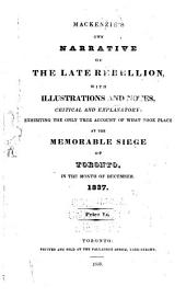 Mackenzie's Own Narrative of the Late Rebellion