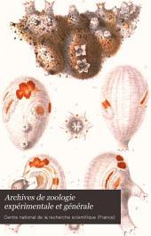Archives de zoologie expérimentale et générale: Volume3
