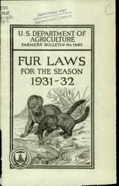 Fur laws for the season 1931-32